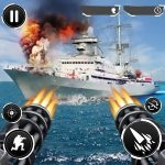 Navy Gunner Shoot War 3D 1.0.7.5 APK + Hack MOD (Money)