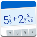 Fractions Calculator detailed solution available 2.5 APK