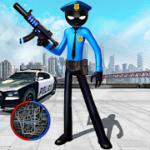 Police Stickman Rope Hero Gangstar Crime Mafia v 1.1 hack mod apk (Coin / Gem)
